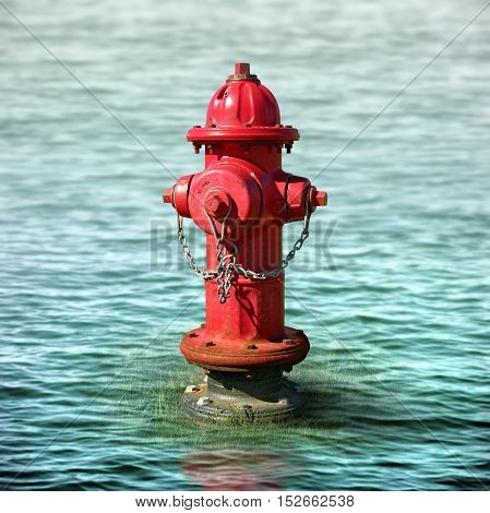 Fire Hydrant In A Flood