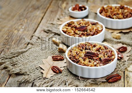 Sweet Potato Casserole with Pecan oat crumbs