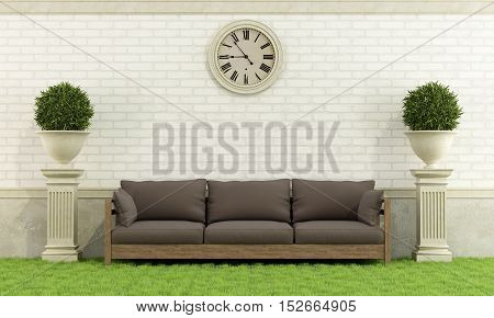 Classic Garden With Sofa