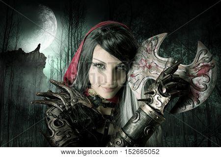 Dark Red Riding Hood