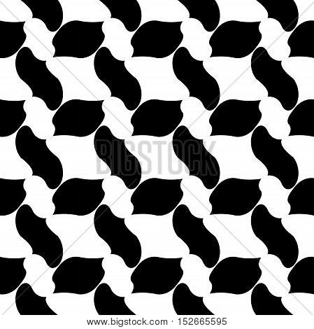 Vector modern abstract geometry pattern. black and white seamless geometric background . subtle pillow and bed sheet design. creative art deco. hipster fashion print