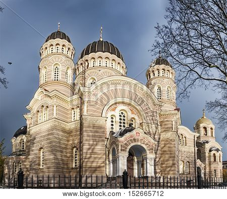 Russian orthodox cathedral of the Nativity of Christ in Riga Latvia