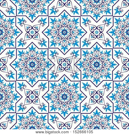 Arabesque. Pattern in Moorish style. Arab seamless texture. Element of design. Islamic  background. Oriental ornament