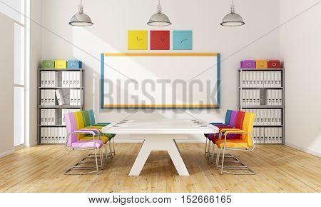 Colorful Board Room