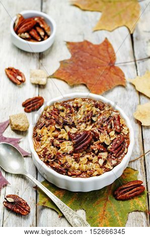 Sweet Potato Casserole with Pecan oat crumbs.
