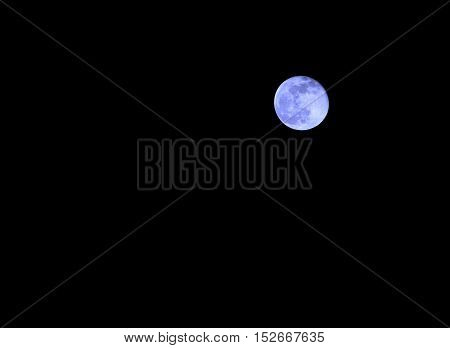 Blue Moon In The Dark Night Without Stars