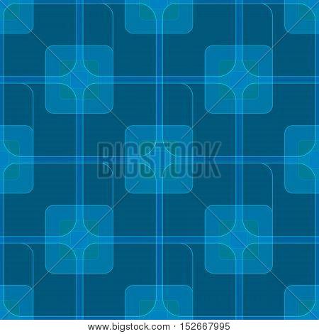 Vector seamless blue geometric background. Pattern for design, brochures. Eps10