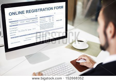 Online Application Form Document Concept