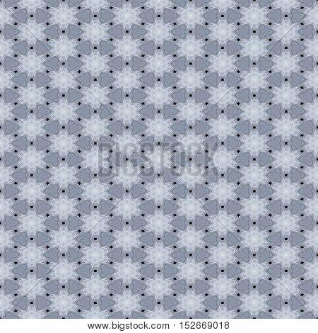 Floral seamless grey white retro vintage pattern