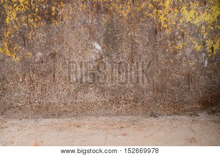 Close up of a old rusty wall.Rusty walls