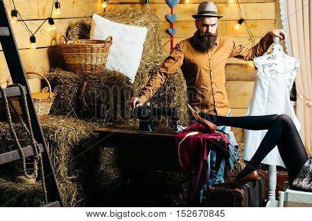 Handsome Tailor Man In Workshop
