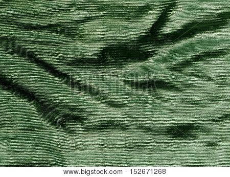 Green Color Cloth Texture.
