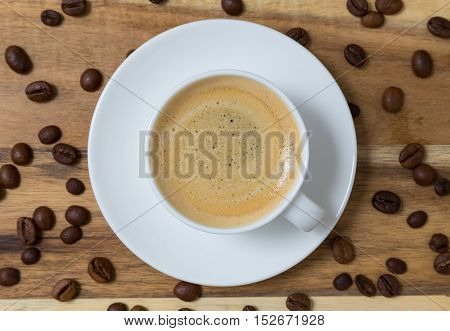 Espresso with coffee beans concept picture background