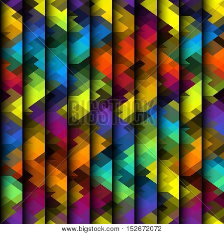 Seamless background pattern. Colorful striped geometric abstract pattern.