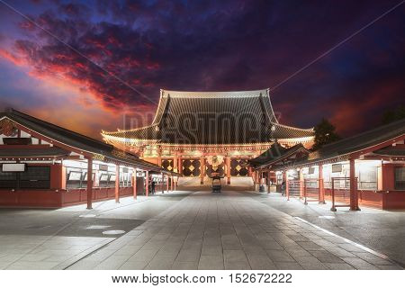 Sensoji temple asakusa kannon in Tokyo Famous place in Tokyo Japan