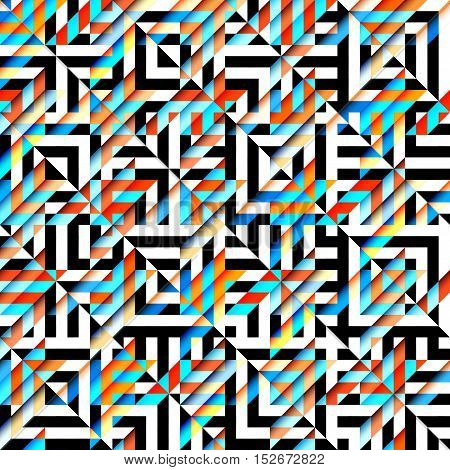 Seamless geoemtric pattern. Classic Hounds-tooth pattern in abstract geometrical style