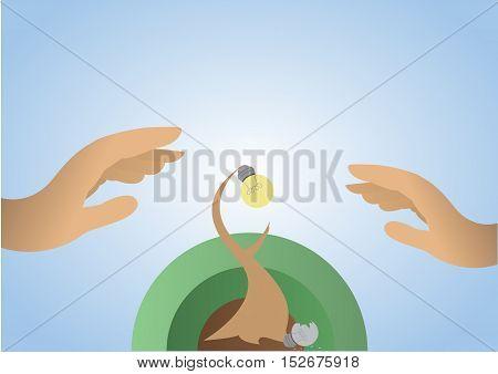 Business Idea Growth up ; Vector Illustration