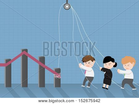 Concept of Team Work ; Vector Illustration