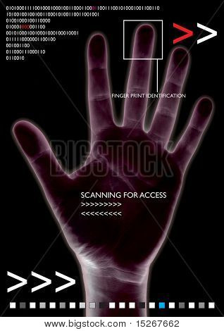 scanned hand for access