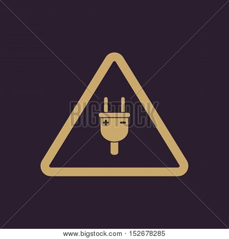 The electric plug icon. Electric plug symbol. Flat Vector illustration