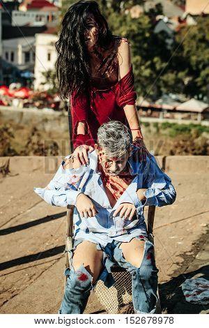 Halloween Zombie Couple