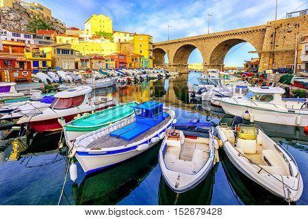 Small Fishing Port, Marseilles, France