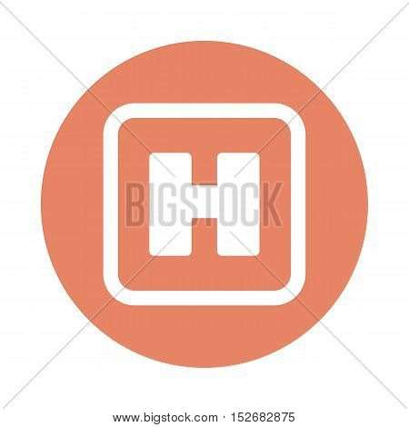 Hospital Sign flat icon. Medical vector eps 10