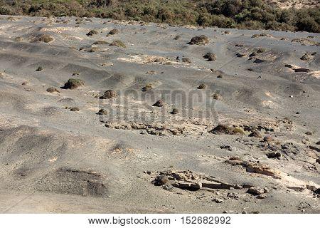 Beautiful volcanic landscape in La Pared on Fuerteventura. Canary Islands.