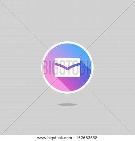 Modern Mail Logo or Icon with Long Shadow
