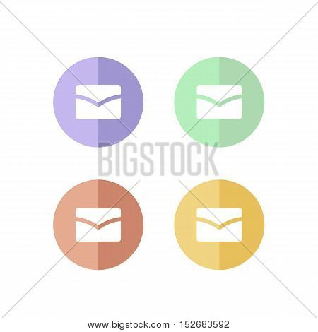Colorful Set of Retro Mail Logo or Icon