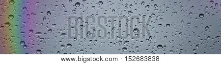 Banner for the site, the glass with water drops.