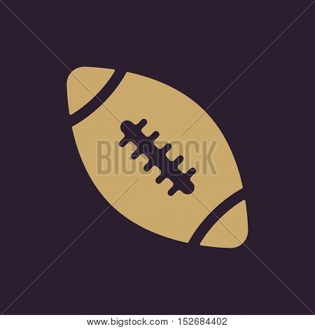 The football icon. Rugby symbol. Flat Vector illustration