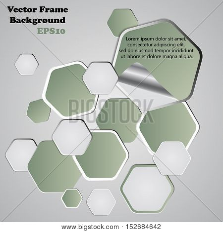 Background Polygons Cut Paper- Design Template. Vector Illustration For Your Business Presentation