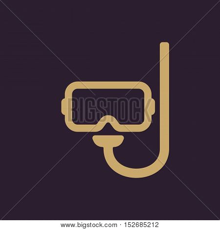 The scuba mask icon. Diving symbol. Flat Vector illustration