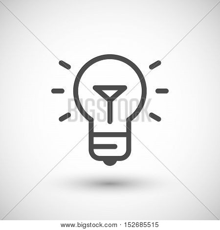 Bulb line icon isolated on grey. Vector illustration