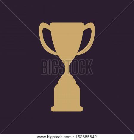 The goblet icon. Achievement symbol. Flat Vector illustration