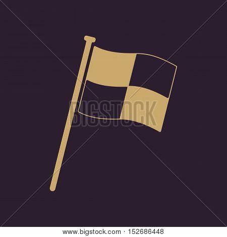 The Race flag icon. Finish symbol. Flat Vector illustration