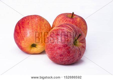 Äpfel, Frucht, Obst, Essen, Lebensmittel, freigestellt, rot