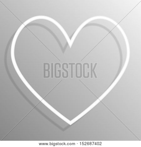 Paper heart banners frame template for business design, infographics. Vector illustration eps10.