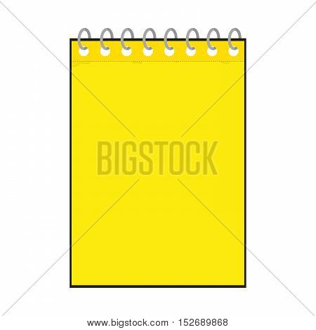 vector illustration of yellow notepad icon isolated on white