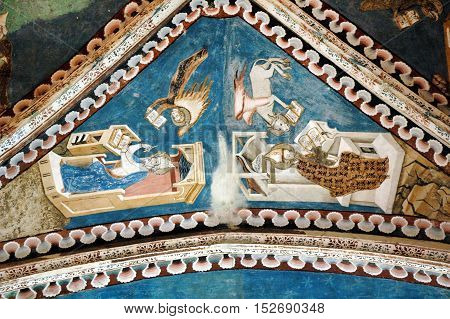 Old Fresco And Painting