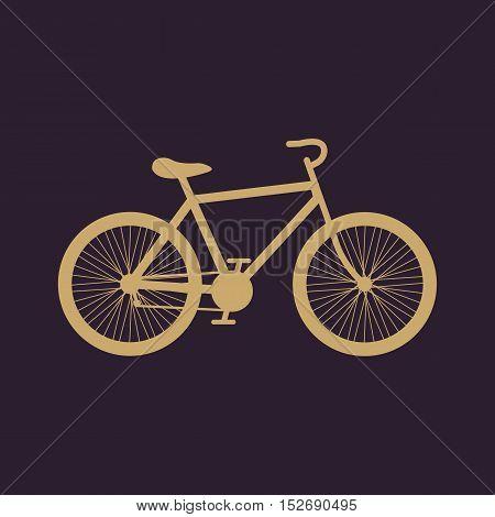 The bicycle icon. Bike symbol. Flat Vector illustration