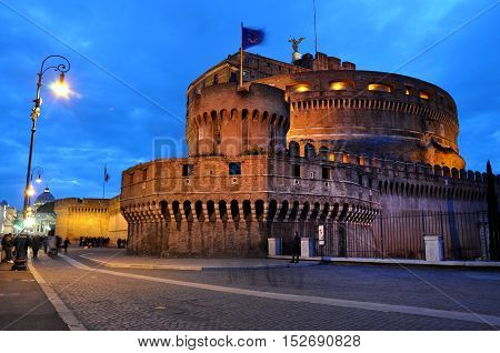 Castle San Angelo In Rome, Italy