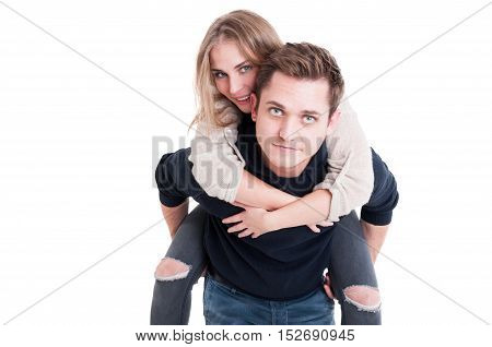 Attractive Couple Posing As Being Happy And Joyful