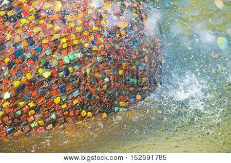Texture Background. City Fountain, Dita Intere