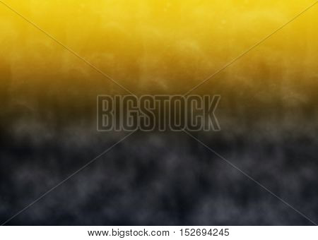 Yellow and black background with gray fog
