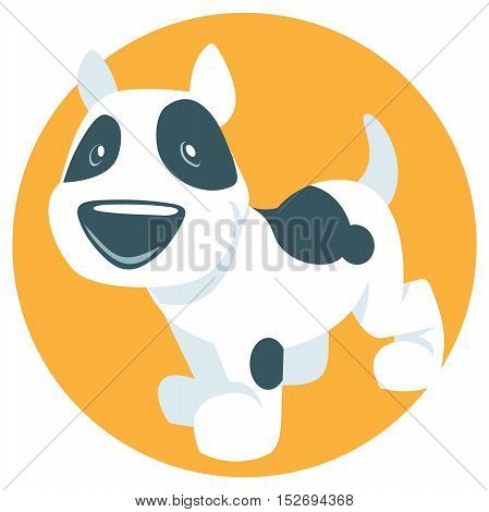 funny illutration whith a cute cartoon puppy