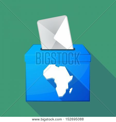 Long Shadow Ballot Box With  A Map Of The African Continent
