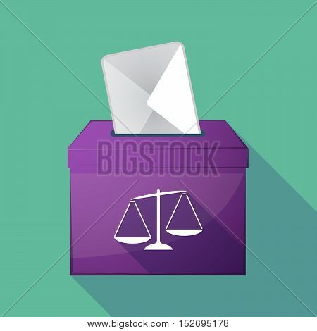 Long Shadow Ballot Box With  An Unbalanced Weight Scale