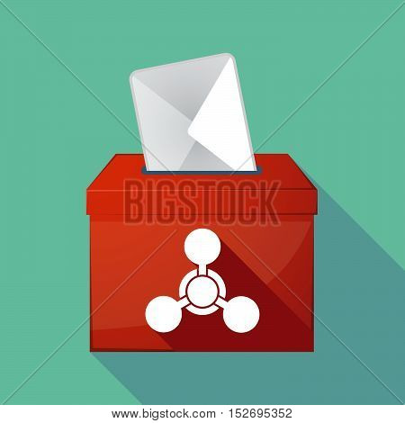 Long Shadow Ballot Box With A Chemical Weapon Sign
